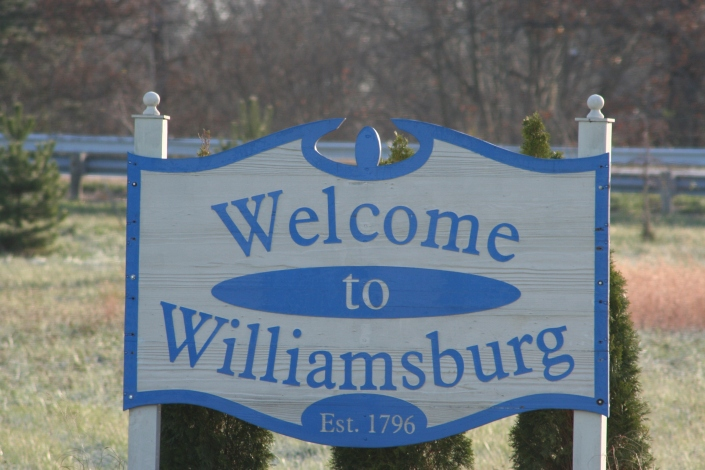 Welcome to burg sign